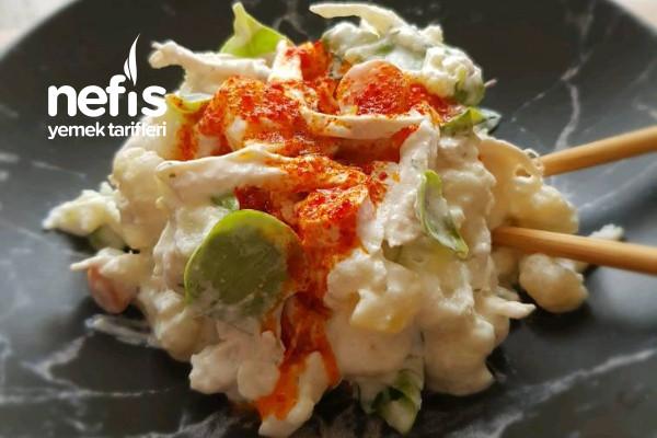 Yoğurtlu Tavuklu Karnabahar Salatası Tarifi