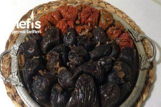 Kuru Dolma Kıymalı ( Patlıcan ve Dolma Biber ) Tarifi