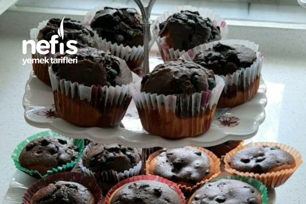 Çikolata Parçacıklı Muffin Kek Tarifi