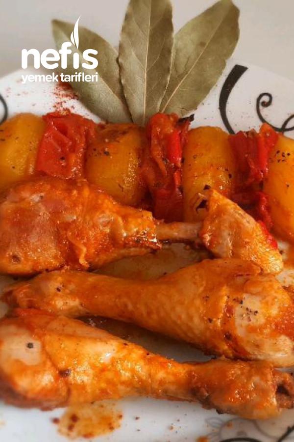 Fırın Poşetinde Tavuk Yemeği