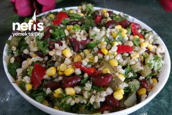 Meksika Fasulyeli Buğday Salatası Tarifi