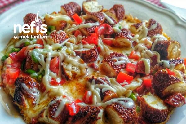 Pizzayı Kıskandıran Simit Kahvaltı Tarifi