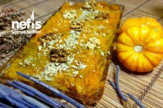 3 Malzemeli Şekersiz Balkabağı Tatlısı (Videolu) Tarifi