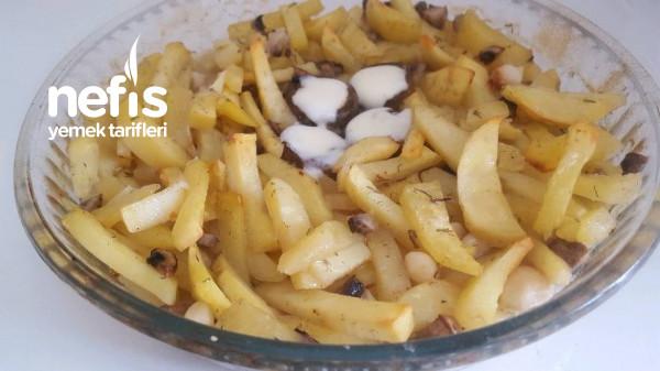 Fırında Mantarli Patates