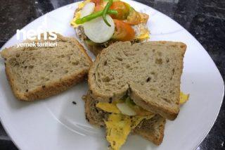 Kıymalı Yumurtalı Sandviç(Fit, Tok Tutan) Tarifi