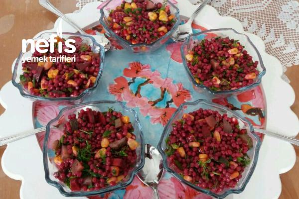 Şalgamlı Narlı Kuskus Salatası Tarifi