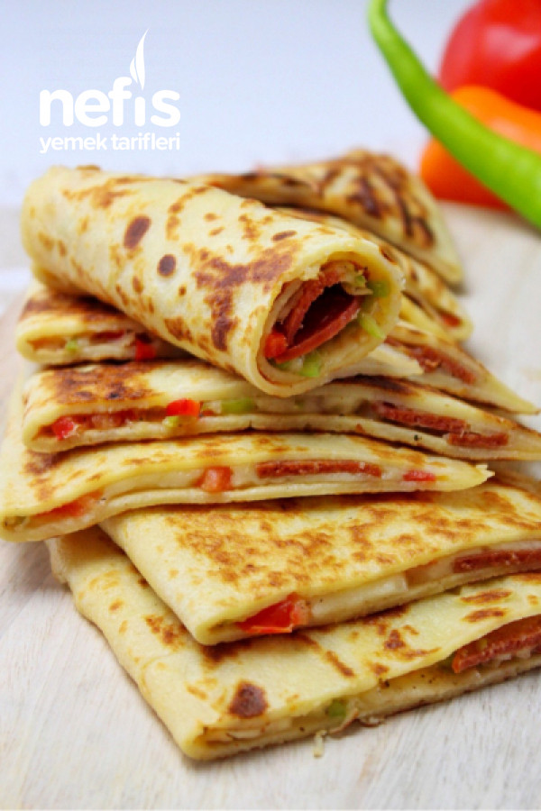 Pizza Tadında Gözleme Krep (6 Adet)