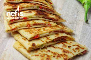 Pizza Tadında Gözleme Krep (6 Adet) Tarifi