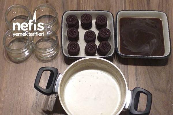 Beyaz Çikolatalı Bisküvili Kavanoz Tatlısı