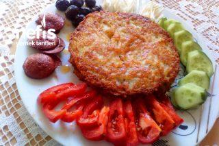 2 Malzeme İle En Basitinden Kahvaltılık (Patatesli Kaşarlı) Tarifi