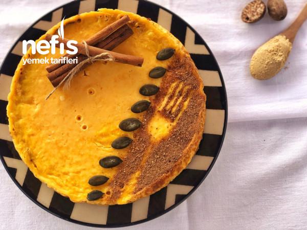 Balkabaklı Cheesecake (Rafine Şekersiz,Unsuz)