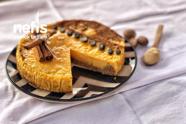 Balkabaklı Cheesecake (Rafine Şekersiz,Unsuz) Tarifi