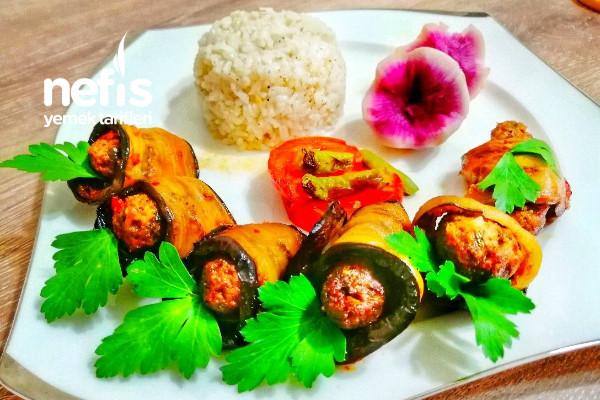 Köfteli Patlıcan Rulo Tarifi