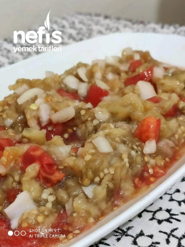 Köz Patlıcanlı Diyet Salata