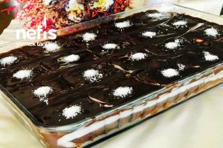 20 Kişilik Muzlu Borcam Pastası (Tadına Bayılacaksınız) Tarifi