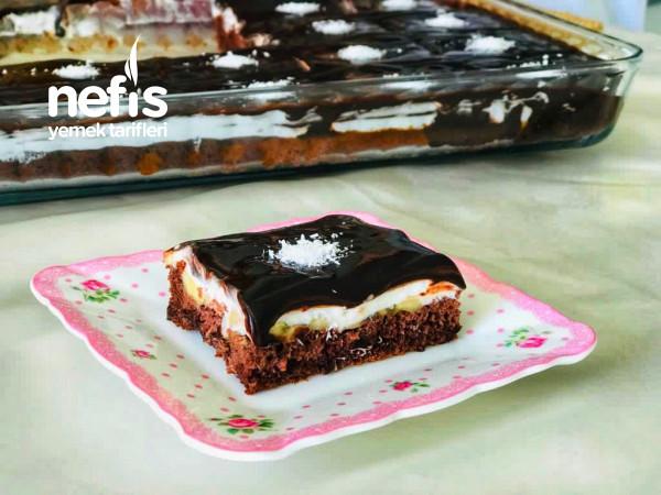 20 Kişilik Muzlu Borcam Pastası (Tadına Bayılacaksınız)