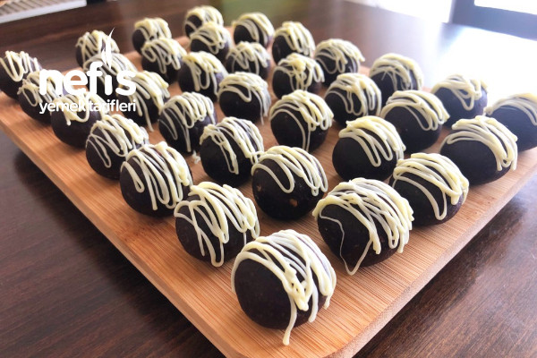 5 Dakikada Nefis Trufflar (Pratik Çikolatalı Top Atıştırmalık Truff Tarifi)(Videolu)