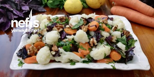 Karnabahar Salatası (Enfes Sosuyla!!!)