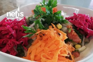 Turşulu Renkli Ege Salatası (Videolu) Tarifi