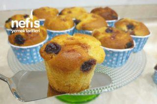 İçi Akışkan Vişne Reçelli Muffin Tarifi