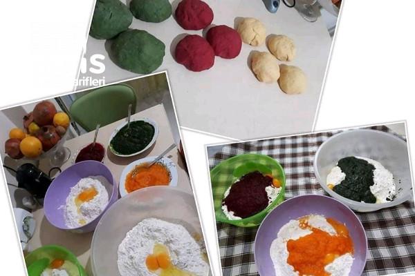 Rengarenk Sebzeli Erişteler