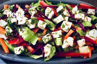 Lavaş Peynir Salatası (Keçi Peyniri) Tarifi