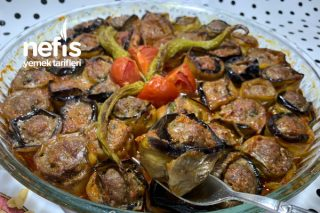 Patlıcanlı Köfteli Gül Kebap (Videolu) Tarifi