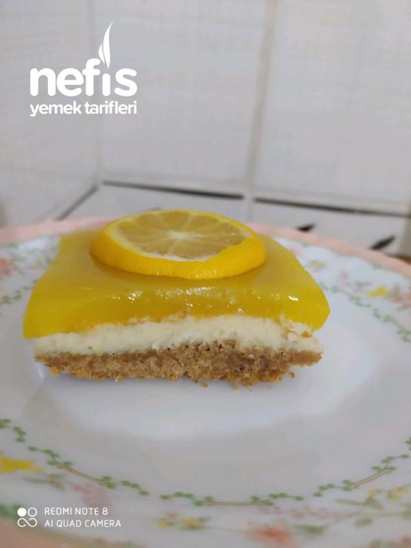 Borcamda Limonlu Cheesecake (1 Paket Sıvı Krema Ve 1 Paket Labne İle)