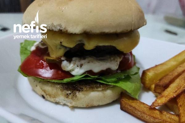 Evde Hamburger (Çok Lezzetli) Tarifi