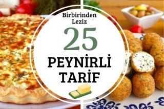 Peynirle Yapabileceğiniz Birbirinden Leziz 25 Tarif Tarifi