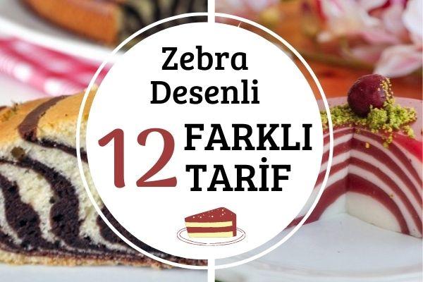 Zebra Deseni ile Çift Renkli 12 Tarif Tarifi