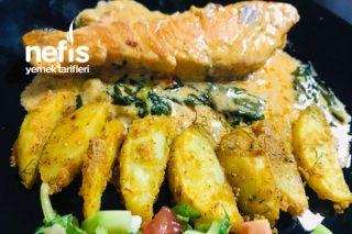 Domatesli Ispanaklı Somon Balığı Tarifi