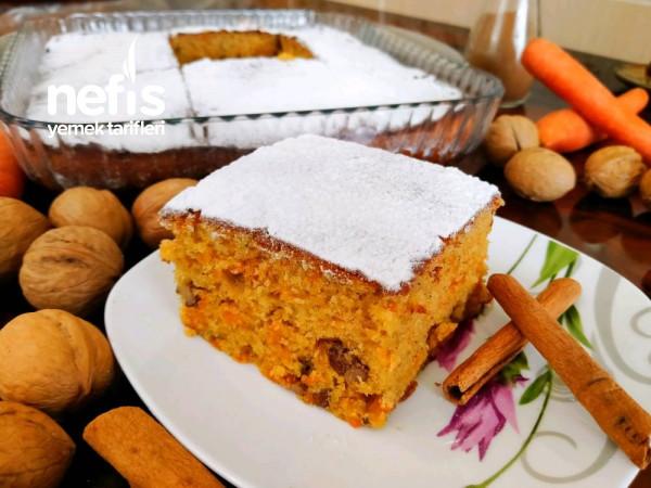 Havuçlu Cevizli Tarçınlı Kek (Yedikçe Yedirten Kabarmasıyla Kıskandıran Lezzet!!!)