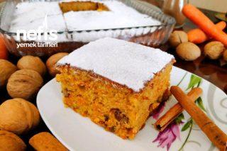 Havuçlu Cevizli Tarçınlı Kek (Yedikçe Yedirten Kabarmasıyla Kıskandıran Lezzet!!!) Tarifi