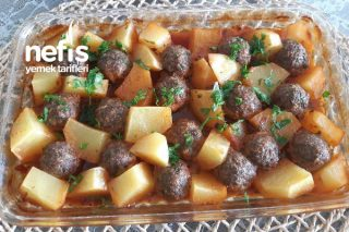 Pratik Fırında Patates Köfte Tarifi