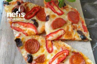 5 Dakikada Bazlamadan Nefis Pizza Tarifi