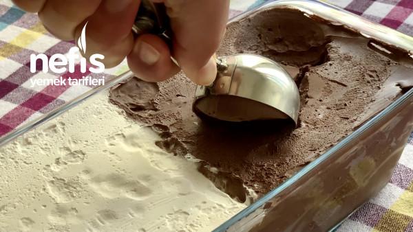 Çikolatalı Dondurma, Vanilyalı Dondurma 3 Malzeme İle (Makine Yok) Gerçek Dondurma
