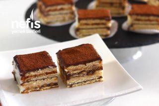 Kolay Bisküvi Pastası (Videolu) Tarifi