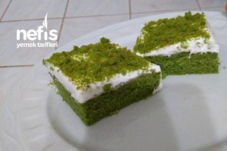 Zengin Görünen Yeşil Pasta Tarifi
