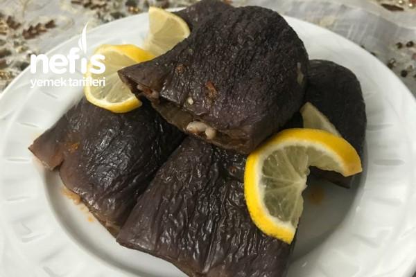 Zeytinyağlı Ekşili Kuru Patlıcan Dolması Tarifi