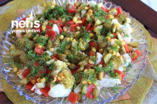 Kış Salatası ( Bu Salata Kilo Yapmaz ) (Videolu) Tarifi