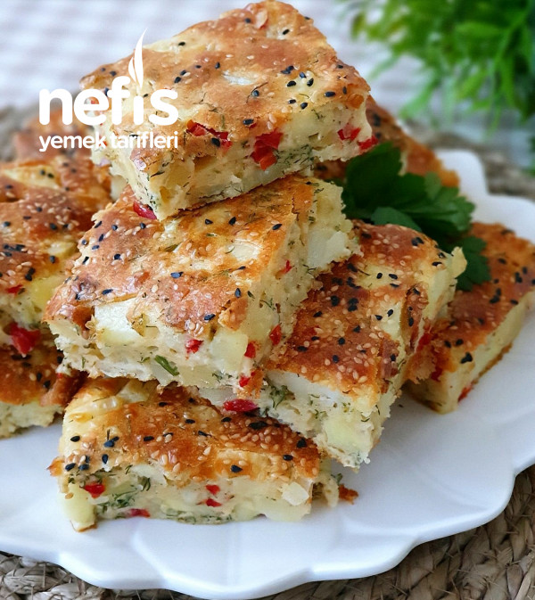 Börek Tadında Patateslı Kek(kahvaltı Keki)