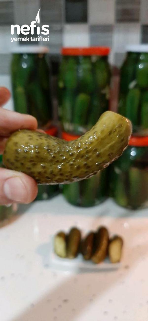 Kaynar Su İle Salatalık Turşusu