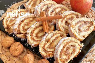 Elmalı Tarçınlı Rulo Kek Tarifi