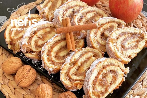 Elmalı Tarçınlı Rulo Kek