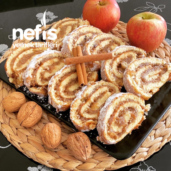 Elmalı Tarcınlı Rulo Kek