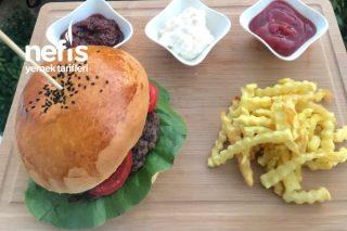 Hamburger Ekmeği (Patates Ve Sos Tarifli) (Aşamalı) Tarifi