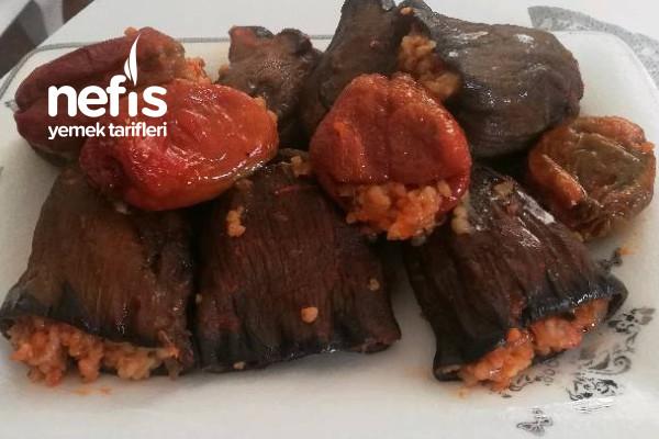 Kuru Patlıcan (Halep) -Biber Dolması Tarifi