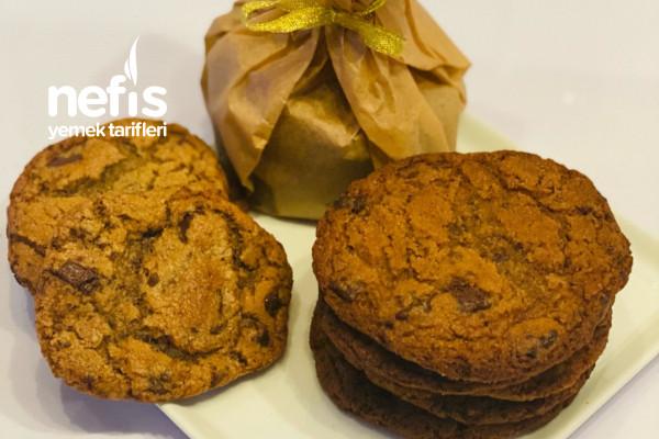 Kıyır Kıyır Çikolata Parçalı Kolay Cookies / Kurabiyeler Tarifi