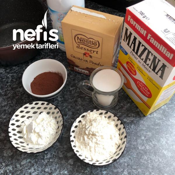 çikolatali tatli Ve krem santili ( Ev yapimi )